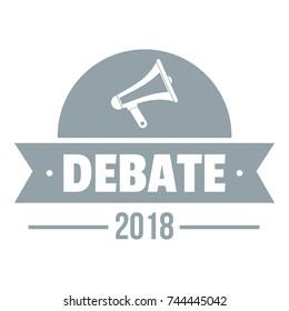 Debate logo. Simple illustration of debate vector logo for web