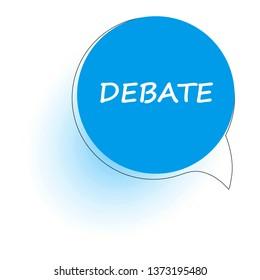 Debate. Speech bubble