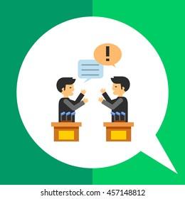 Debates Vector Icon