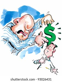 Debt collector wanting payment in Dollars