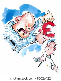 Debt collector wanting payment in pound sterling