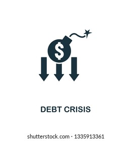 Debt Crisis icon. Creative element design from risk management icons collection. Pixel perfect Debt Crisis icon for web design, apps, software, print usage
