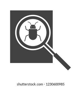Debugging Glyph black icon