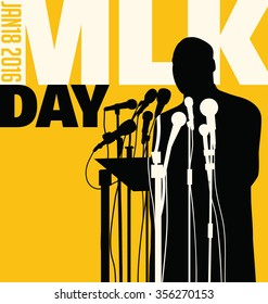 Dec. 29, 2016. Illustration of Martin Luther King, Jr.  to celebrate MLK day.