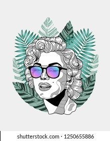 Dec. 6, 2018: Marilyn Monroe. Vector illustration hand drawn.