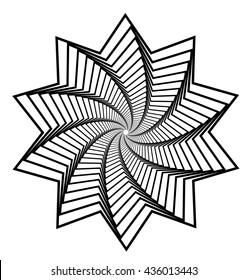 Decagon geometric illusion