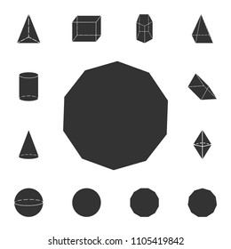 decagon icon. Detailed set of geometric figure. Premium graphic design. One of the collection icons for websites, web design, mobile app on white background