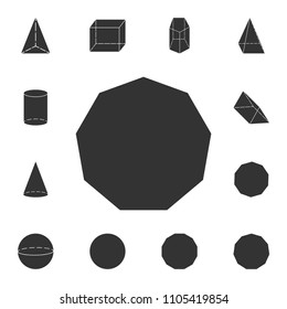 decagon... icon. Detailed set of geometric figure. Premium graphic design. One of the collection icons for websites, web design, mobile app on white background