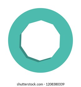 decagon icon. Elements of geometric figure in badge style icons. Simple icon for websites, web design, mobile app, info graphics on white background
