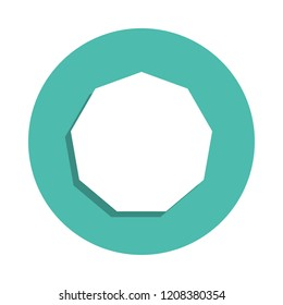 decagon... icon. Elements of geometric figure in badge style icons. Simple icon for websites, web design, mobile app, info graphics on white background
