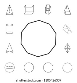 decagon outline icon. Detailed set of geometric figure. Premium graphic design. One of the collection icons for websites, web design, mobile app on white background
