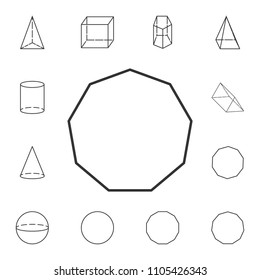 decagon... outline icon. Detailed set of geometric figure. Premium graphic design. One of the collection icons for websites, web design, mobile app on white background
