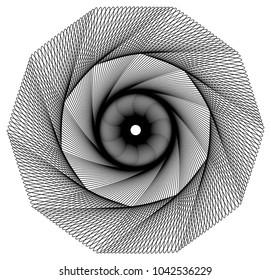 Decagon shaped geometric wire frame.