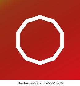 Decagon symbol vector curves