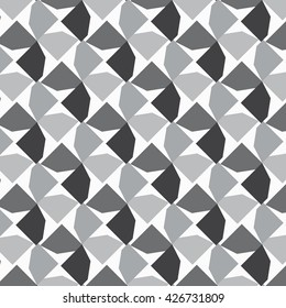 Decagon vector pattern, repeating decagon cut into four circling on square shape