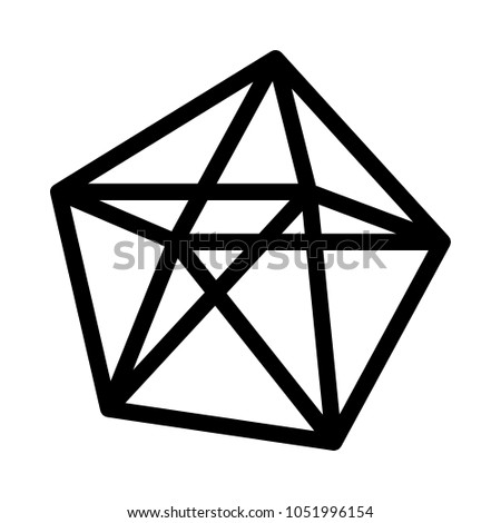 decahedron polyhedron shape stock vector royalty free 1051996154