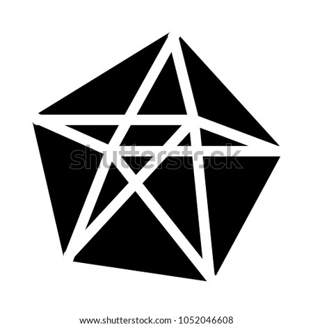 decahedron polyhedron shape stock vector royalty free 1052046608