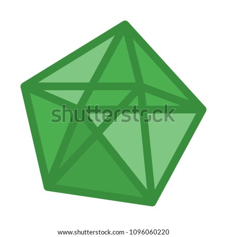 decahedron polyhedron shape stock vector royalty free 1096060220