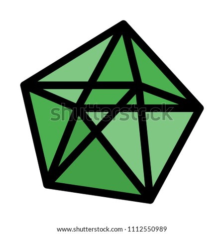 decahedron polyhedron shape stock vector royalty free 1112550989