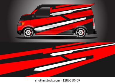 Decal racing for cars designs vector . Livery best for racing .