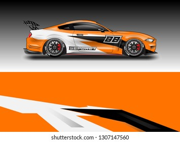 Decal simple racing car design vector  . For vehicles, racing, trucking, rallying, background kits.