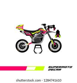 Decal supermoto livery designs vector