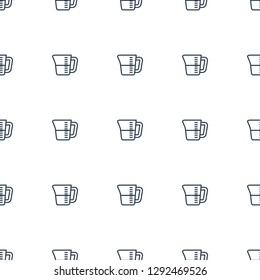 decanted icon pattern seamless white background. Editable outline decanted icon. decanted icon pattern for web and mobile.