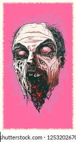 Decapitated Zombie Head