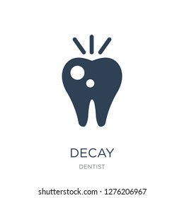 decay icon vector on white background, decay trendy filled icons from Dentist collection, decay vector illustration