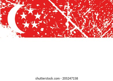 Decayed flag of Singapore
