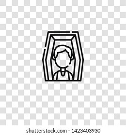 deceased icon from  collection for mobile concept and web apps icon. Transparent outline, thin line deceased icon for website design and mobile, app development