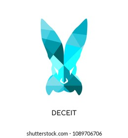 deceit logo isolated on white background for your web and mobile app design