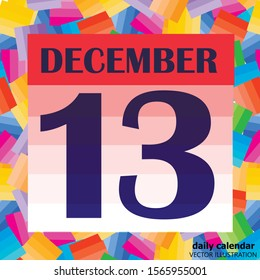 December 13 icon. For planning important day. Banner for holidays and special days. December 13th. Vector Illustration.