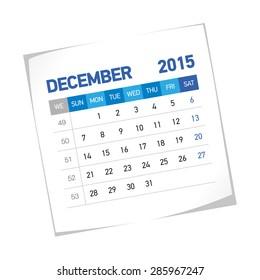 December 2015 European Calendar