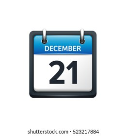 710d8adf1681 December 21. Calendar icon.Vector illustration
