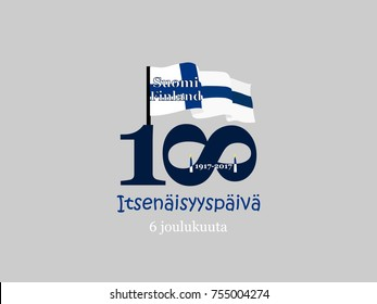 December 6th, Finland, Independence Day greeting card. Translation from Finnish: December 6, Independence Day