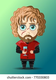 DECEMBER 7, 2017: Vector illustration of Tyrion Lannister (Game of thrones)