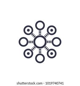 decentralization concept vector icon