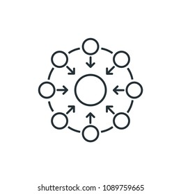 Decentralized Algorithm Symbol Modern Simple Vector Icon
