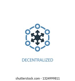 decentralized concept 2 colored icon. Simple blue element illustration. decentralized concept symbol design. Can be used for web and mobile UI/UX