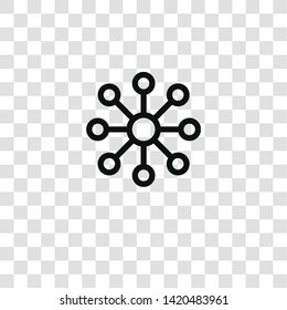 decentralized icon from  collection for mobile concept and web apps icon. Transparent outline, thin line decentralized icon for website design and mobile, app development