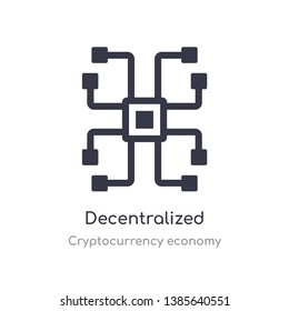 decentralized icon. isolated decentralized icon vector illustration from cryptocurrency economy collection. editable sing symbol can be use for web site and mobile app