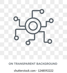 Decentralized icon. Trendy flat vector Decentralized icon on transparent background from Cryptocurrency economy and finance collection. High quality filled Decentralized symbol use for web and mobile