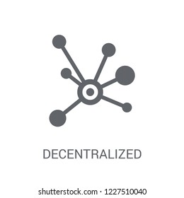 Decentralized icon. Trendy Decentralized logo concept on white background from Cryptocurrency economy and finance collection. Suitable for use on web apps, mobile apps and print media.