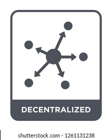 decentralized icon vector on white background, decentralized trendy filled icons from Cryptocurrency economy and finance collection, decentralized simple element illustration