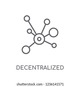 Decentralized linear icon. Modern outline Decentralized logo concept on white background from Cryptocurrency economy and finance collection. Suitable for use on web apps, mobile apps and print media.
