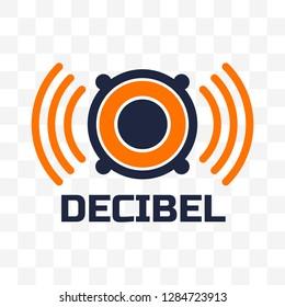 decibel logo isolated on white background. vector illustration