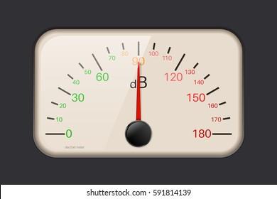 Decibel meter. Vector illustration