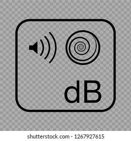 Decibels icon. Vector Ilustration.