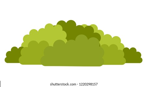 Deciduous shrubs for urban landscaping vector icon flat illustration isolated on white